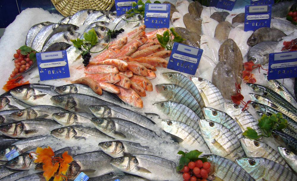 Les produits Poissons frais et crustacés à Dolus La Grande Marée Oléronaise